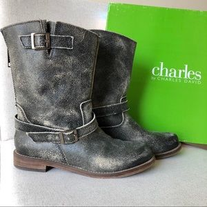 Charles by Charles David Rustic Black Boots